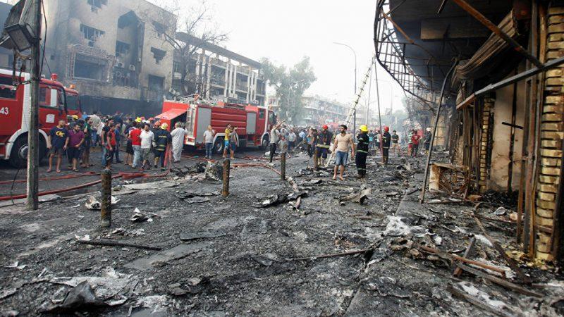 عشرات القتلى والجرحى في انفجارين وسط بغداد