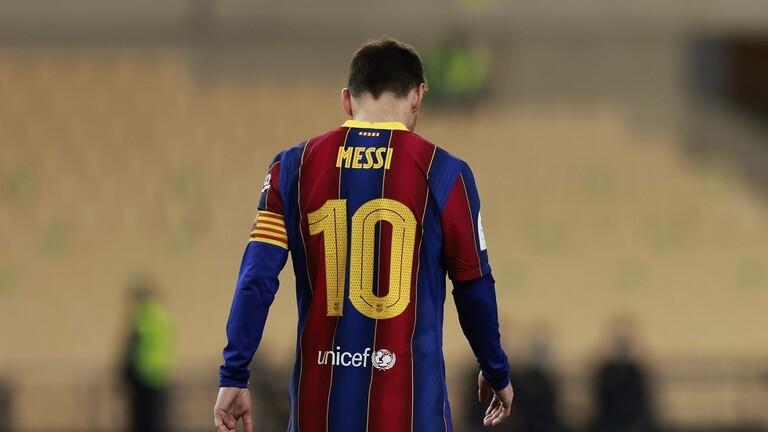 نادي برشلونة يستأنف قرار ايقاف ميسي مبارتين