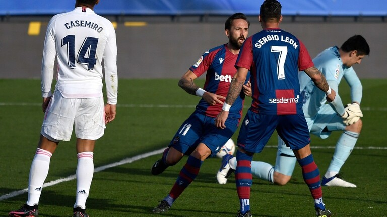 خسارة مريرة  لريال مدريد على أرضه أمام ضيفه ليفانتي