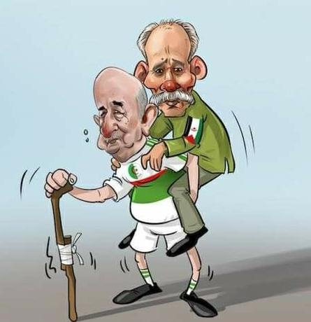 """خلال زيارته للجزائر قبل عودته إلى ألمانيا، تبون يستقبل رئيس """"جمهورية تندوف"""""""