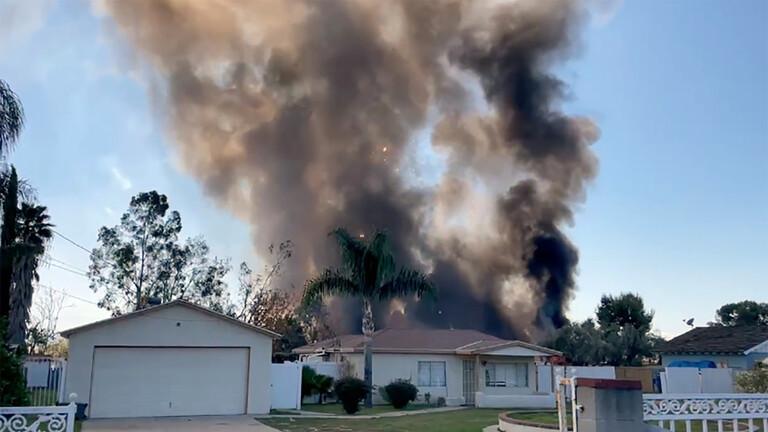 انفجار قوي في كاليفورنيا