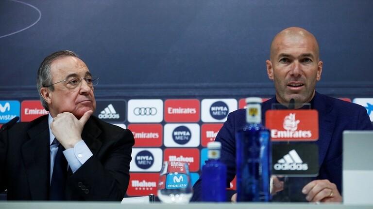 رئيس ريال مدريد يتشبث بزيدان
