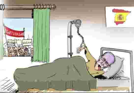 """ضحاياه الإسبان والصحراويون  يطالبون باعتقاله،  المغرب يأسف لاستضافة إسبانيا المجرم زعيم مرتزقة """"البوليساريو"""" الانفصالية"""