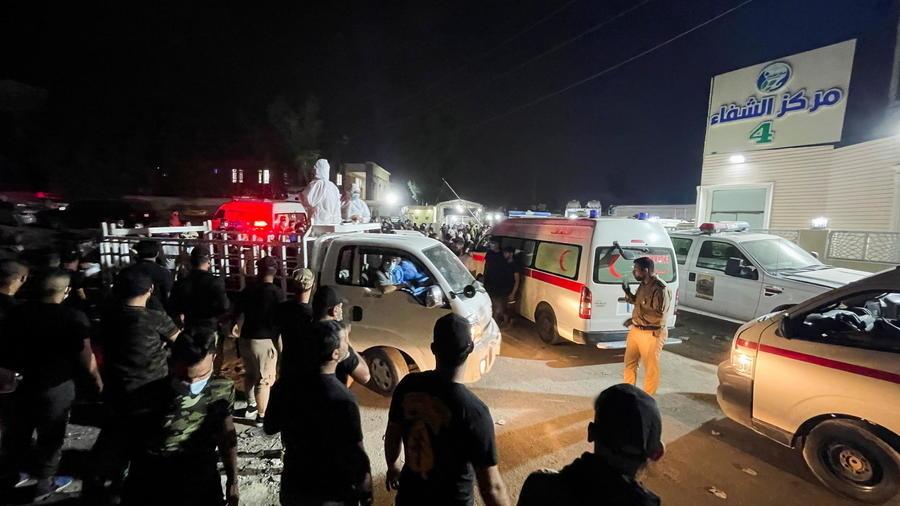 """العراق ..ارتفاع حصيلة ضحايا حريق بمستشفى لمرضى """" كورونا """" إلى 82 شخصا"""
