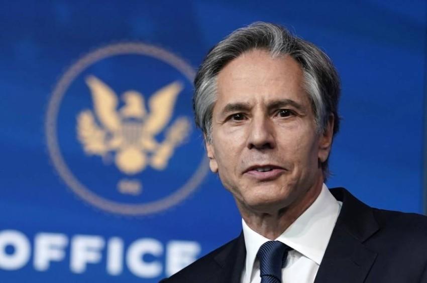"""بلينكن يبحث مع نظيريه الفرنسي والألماني دعم أوكرانيا في وجه ما وصفه بـ""""الاستفزازات الروسية"""""""