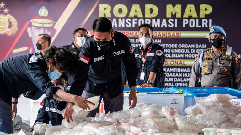 الشرطة الإندونيسية تحجز مخدرات بقيمة 82 مليون دولار