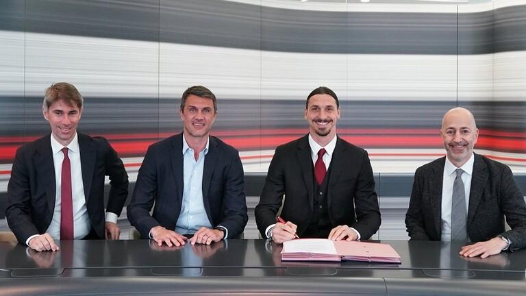 نادي ميلان الإيطالي يجدد عقد إبراهيموفيتش لموسم واحد
