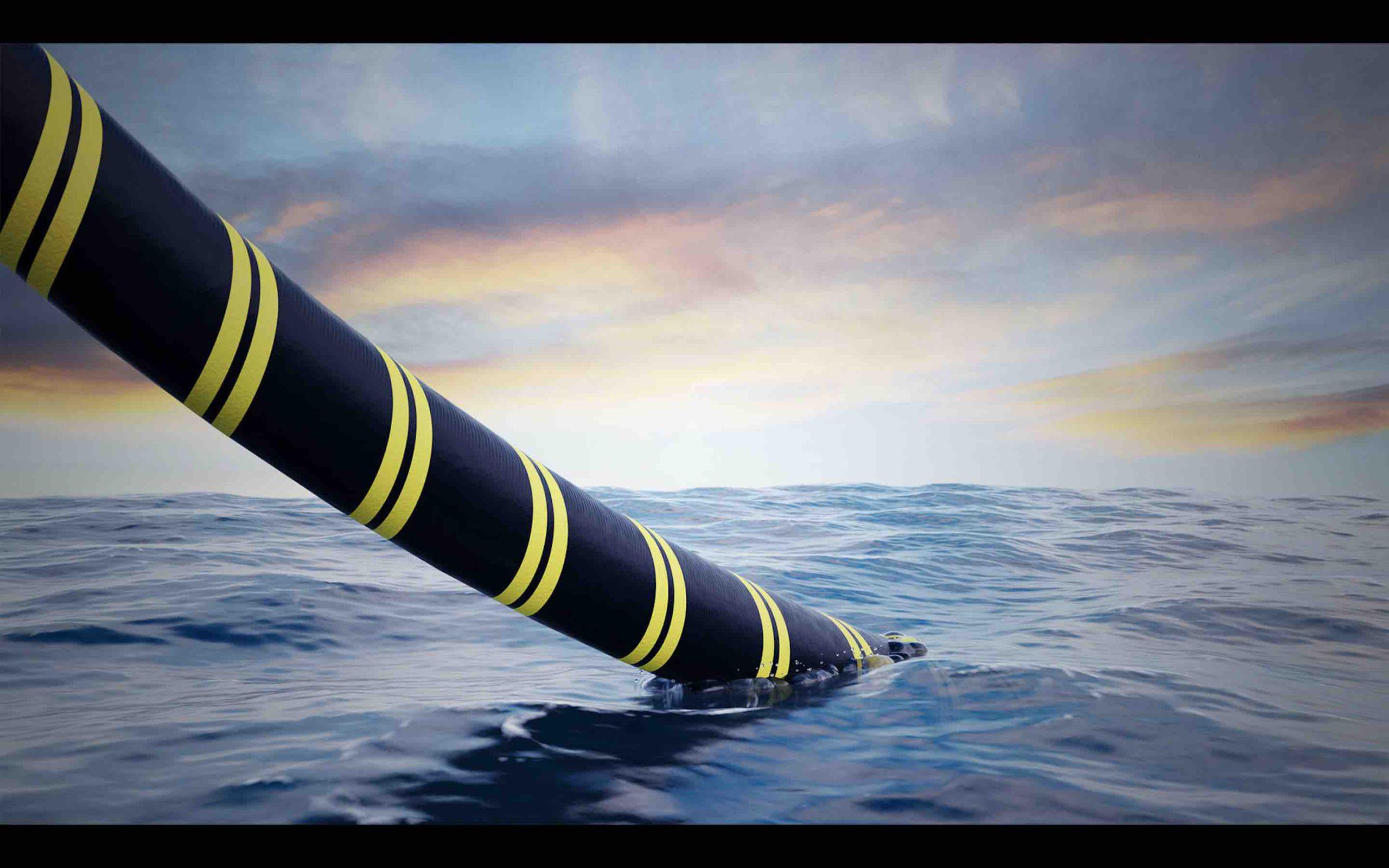 طوله 3800 كلم وبقدرة 10,5 جيغاواط ، بعمق بحري يصل إلى 700 متر ،  مشروع أطول خط كهربائي في العالم  لربط المغرب وبريطانيا لنقل التيار الكهربائي تحت الماء