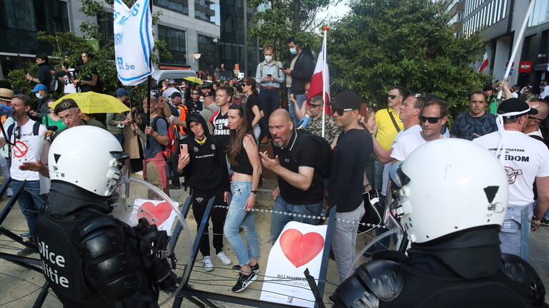 بلجيكا..احتجاجات على قيود كورونا