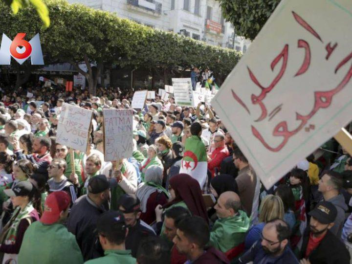 ردود فعل قوية للشارع الجزائري ضد بلاغ الحكومة بمنع مسيرات الحراك الشعبي