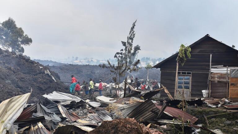 الكونغو.. مصرع 13 شخصا وتسجيل أكثر من 10 زلازل بعد ثوران بركان غوما