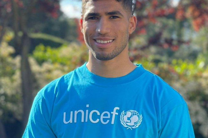 """""""اليونيسف"""": أشرف حكيمي """"بطلا لحقوق الطفل"""" في المغرب"""