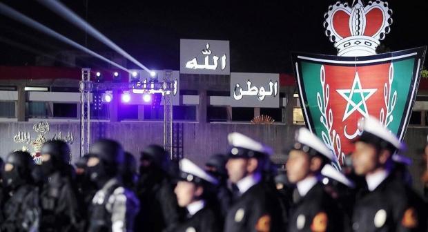 الشرطة المغربية تحتفل بالذكرى 65 لتأسيسها