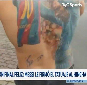 ميسي يفي بوعده لمشجع برازيلي (صورة)