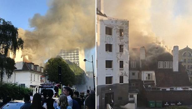 بريطانيا.. حريق كبير يندلع قرب محطة مترو بجنوب لندن