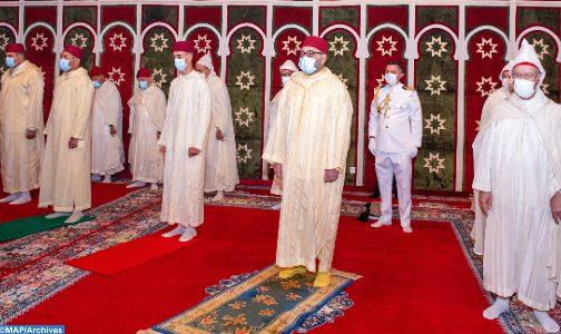 الملك محمد السادس يؤدي صلاة عيد الأضحى وينحر الأضحية