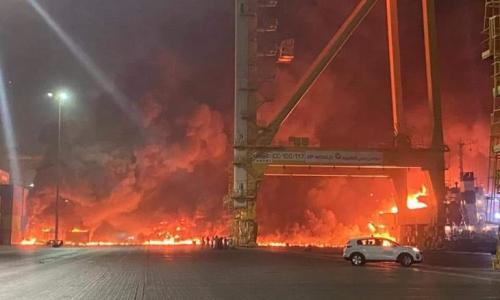 الإمارات.. انفجار عنيف في ميناء جبل علي بدبي