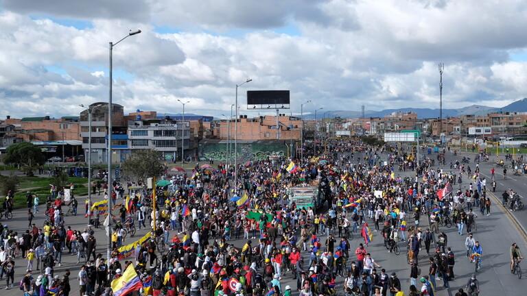 تظاهرات ضد الحكومة في كولومبيا