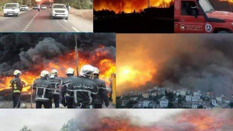 الجزائر.. ارتفاع حصلية ضحايا حرائق الغابات إلى 65 ضحية منهم 28 عسكريا