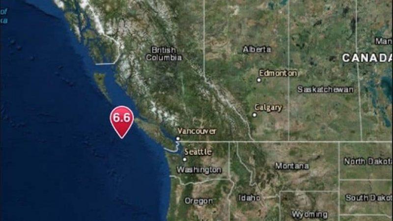 زلزال بقوة 6.5 درجة يضرب غرب كندا