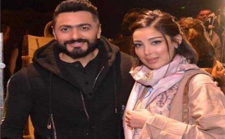 """تامر حسني وزوجته يقرران إطلاق """"عطر فرنسي"""" يحمل توقيعهما في عيد الحب"""