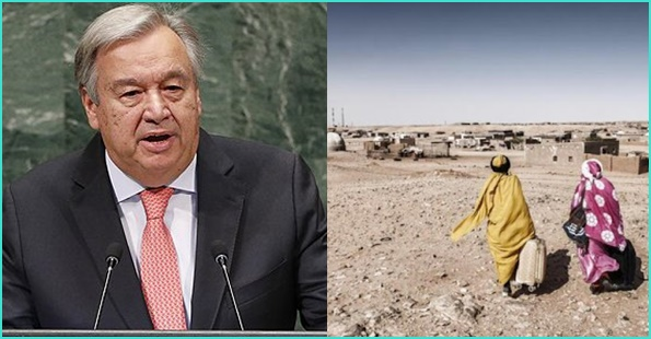 """الأمين العام للأمم المتحدة يثير انتباه مجلس الأمن إلى اختلاس المساعدات الإنسانية من قبل """"البوليساريو"""""""